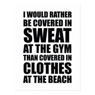 Me cubrirían bastante en sudor en el gimnasio postal