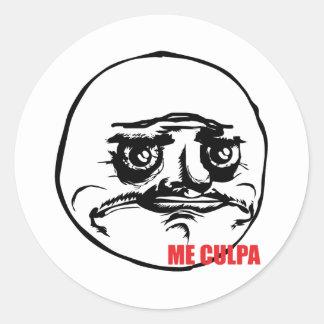Me Culpa - Round Stickers