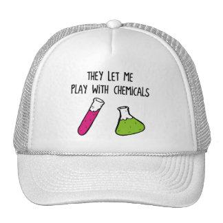 Me dejaron jugar con las sustancias químicas gorra