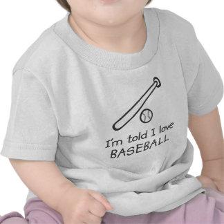 Me dicen la camiseta del niño del BÉISBOL del amor