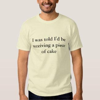 Me dijeron que estaría recibiendo un pedazo de camisas