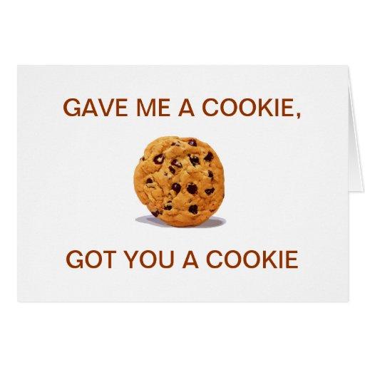 Me dio una galleta, conseguida le una galleta tarjetas