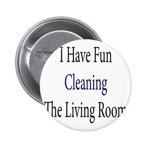 Me divierto el limpiar de la sala de estar pin