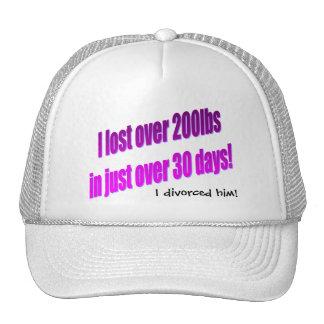 Me divorcié lo gorra