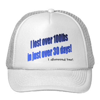 Me divorcié su gorra