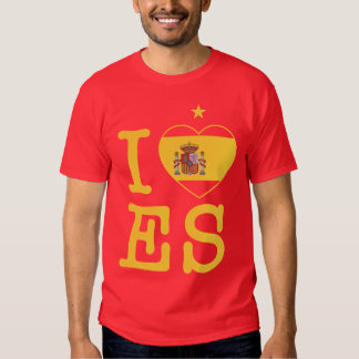 Me encanta España con una estrella Camisas