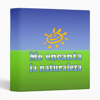 Me Encanta la Naturaleza - I Love Nature Argentine Binder