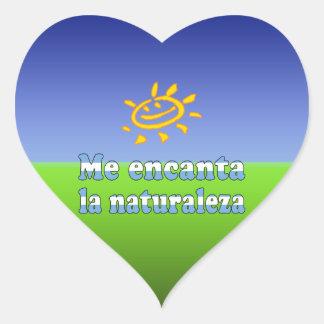 Me Encanta la Naturaleza - I Love Nature Argentine Heart Sticker