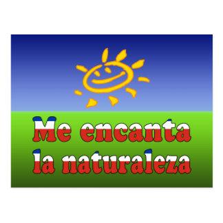 Me Encanta la Naturaleza - I Love Nature Chilean Postcard