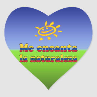 Me Encanta la Naturaleza - I Love Nature Colombian Heart Sticker