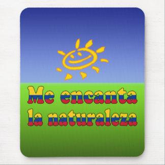 Me Encanta la Naturaleza - I Love Nature Colombian Mouse Pad