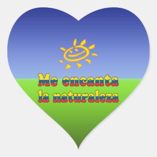 Me Encanta la Naturaleza I Love Nature Ecuadorian Heart Sticker