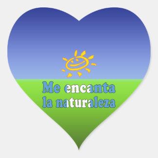 Me Encanta la Naturaleza I Love Nature Guatemalan Heart Sticker