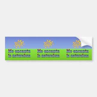 Me Encanta la Naturaleza - I Love Nature in Cuban Bumper Sticker