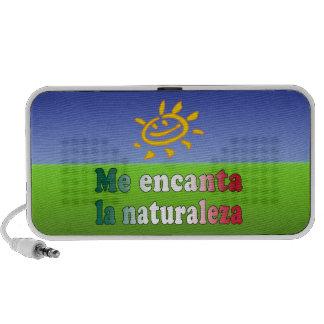 Me Encanta La Naturaleza I Love Nature in Mexican iPod Speaker