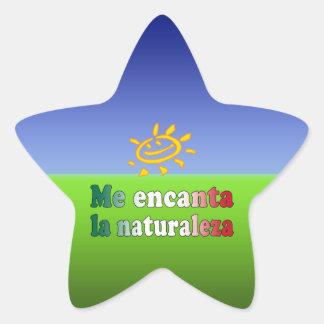 Me Encanta La Naturaleza I Love Nature in Mexican Star Sticker