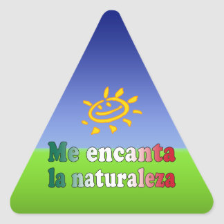 Me Encanta La Naturaleza I Love Nature in Mexican Triangle Sticker