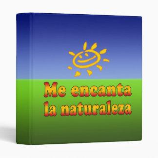 Me encanta la naturaleza I Love Nature in Spanish Binder
