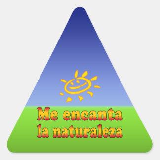 Me encanta la naturaleza I Love Nature in Spanish Triangle Sticker