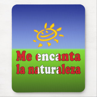 Me Encanta la Naturaleza - I Love Nature Peruvian Mouse Pad