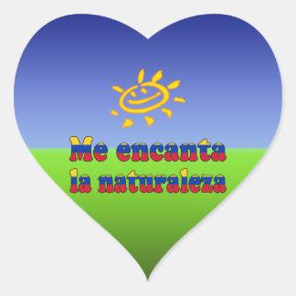 Me Encanta la Naturaleza I Love Nature Venezuelan Heart Sticker
