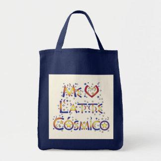 Me Encanta Latte Cósmico Grocery Tote Bag