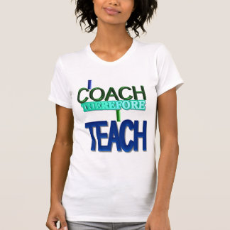 Me entreno por lo tanto enseño a la camiseta playera