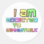 Me envician a la leche materna etiqueta redonda