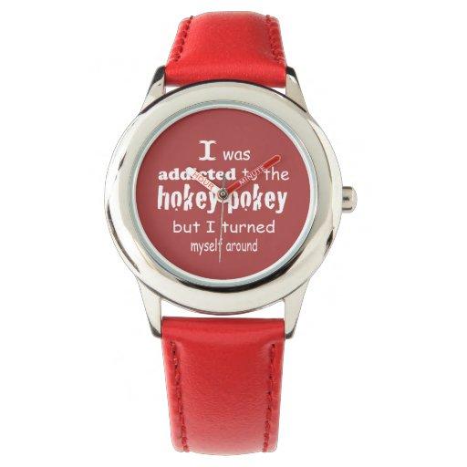 Me enviciaron al Pokey de Hokey Relojes De Mano