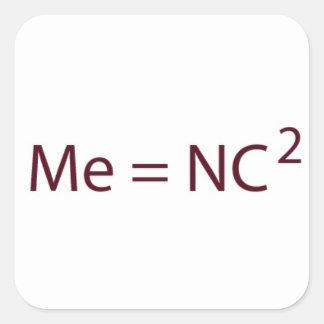 Me Equals NC Squared Sticker
