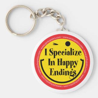 Me especializo en conclusiones felices llavero redondo tipo pin
