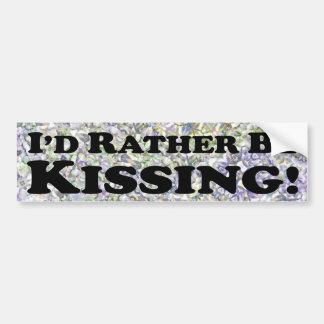 Me estaría besando bastante - pegatina para el par pegatina para auto