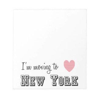 Me estoy trasladando a Nueva York Blocs