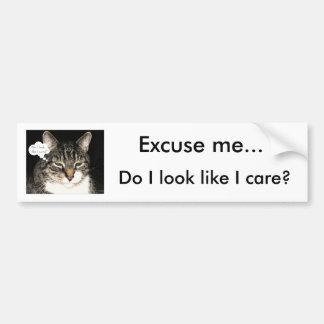 ¿Me excuso…, miro como cuido? Pegatina Para Auto