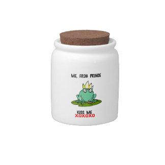 Me Frog Prince Kiss Me Candy Jar