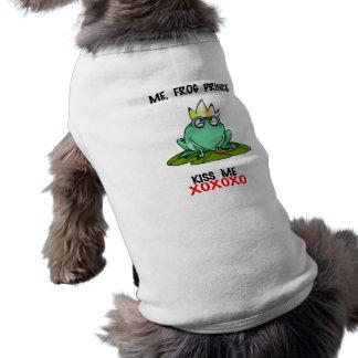 Me Frog Prince Kiss Me XOXOXO  Pet Shirt