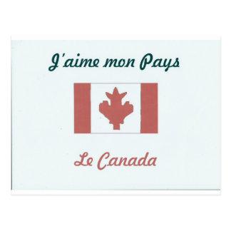 Me gusta a Canada.jpg Postal