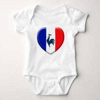 Me gusta a gallo bandera Francia Body Para Bebé