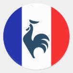 Me gusta a gallo bandera Francia Etiquetas