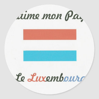 Me gusta a Luxembourg jpg Pegatina Redonda