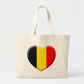me gusta Bélgica Bolsa Tela Grande