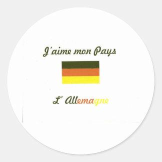 Me gusta el Allemagne jpg Pegatinas