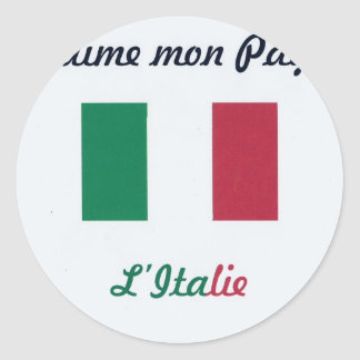 Me gusta el Italie jpg Pegatina Redonda