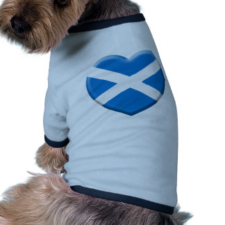 me gusta Escocia Camiseta Con Mangas Para Perro