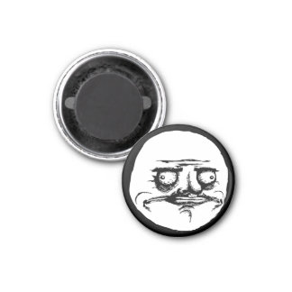 Me Gusta Face 1 Inch Round Magnet