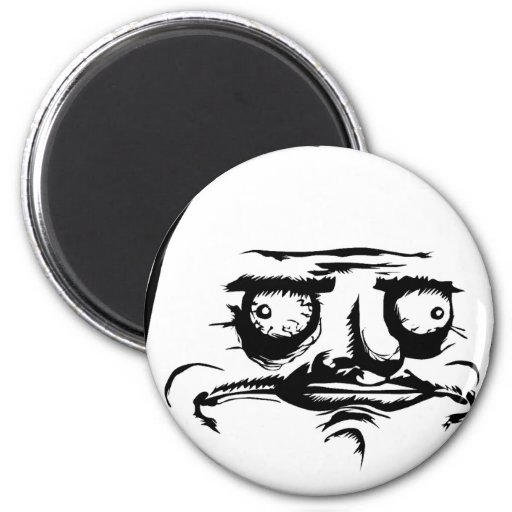 Me Gusta Face 2 Inch Round Magnet