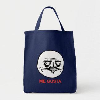 Me Gusta Face Meme Grocery Tote Bag