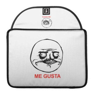 Me Gusta Face Meme MacBook Pro Sleeves