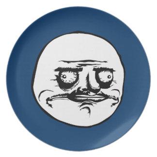 Me Gusta Face Meme Party Plate