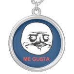 Me Gusta Face Meme Round Pendant Necklace